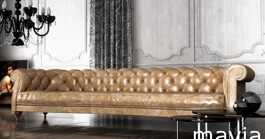 Arredamento di interni chesterfield sofa 3d salotto con for Modelli 3d arredamento