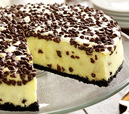 Chocolate Chip Cheesecake Recipe ~ Easy Dessert Recipes