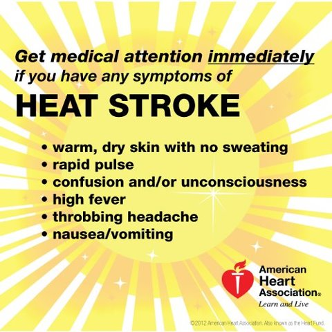 Heat exhaustion and heat stroke are dangerous, so make ...