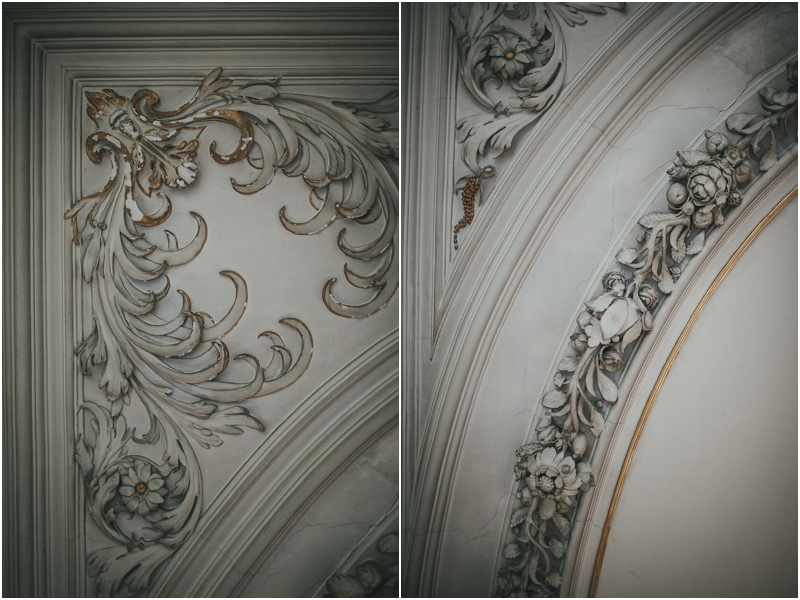 Original plaster work on ceiling