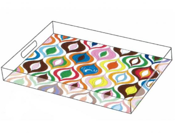 gift, clear, fun tray