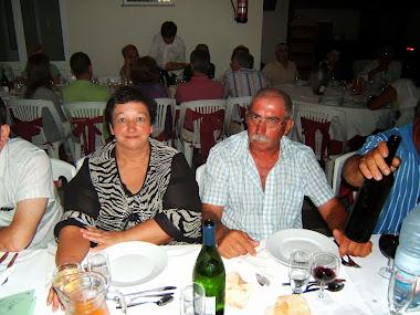 António Costa e a esposa