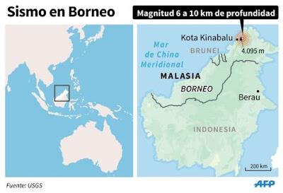 19 MUERTOS TRAS SISMO EN MALASIA