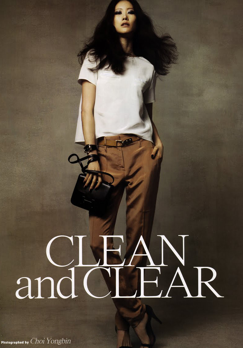 via fashioned by love | Lee Hyun Yi in Clean & Clear | Marie Claire Korea June 2010 (photography: Choi Youngbin) | fashion editorials | inspiration