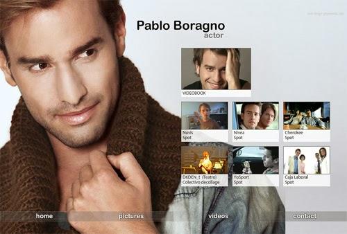 página web del actor Pablo Boragno