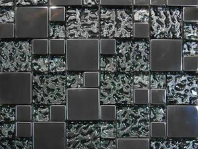 modern glass tiles backsplash