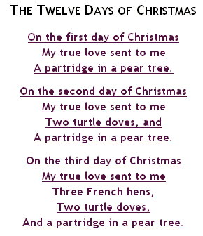 The Twelve Day Of Christmas | 12 Day Of Christmas (Songs)