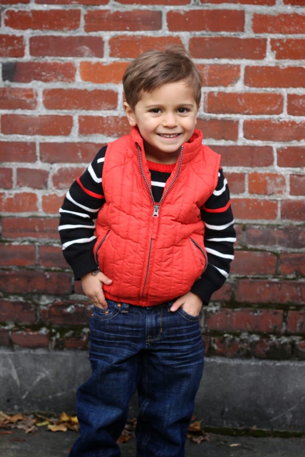 Cute 3 year old boy