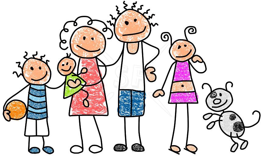 Familia unida en caricatura - Imagui