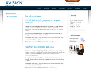 Xvision Engineering en Tunisie: Recrutement et stage