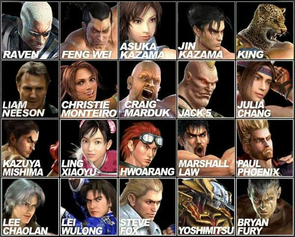 Fighters in Tekken 3