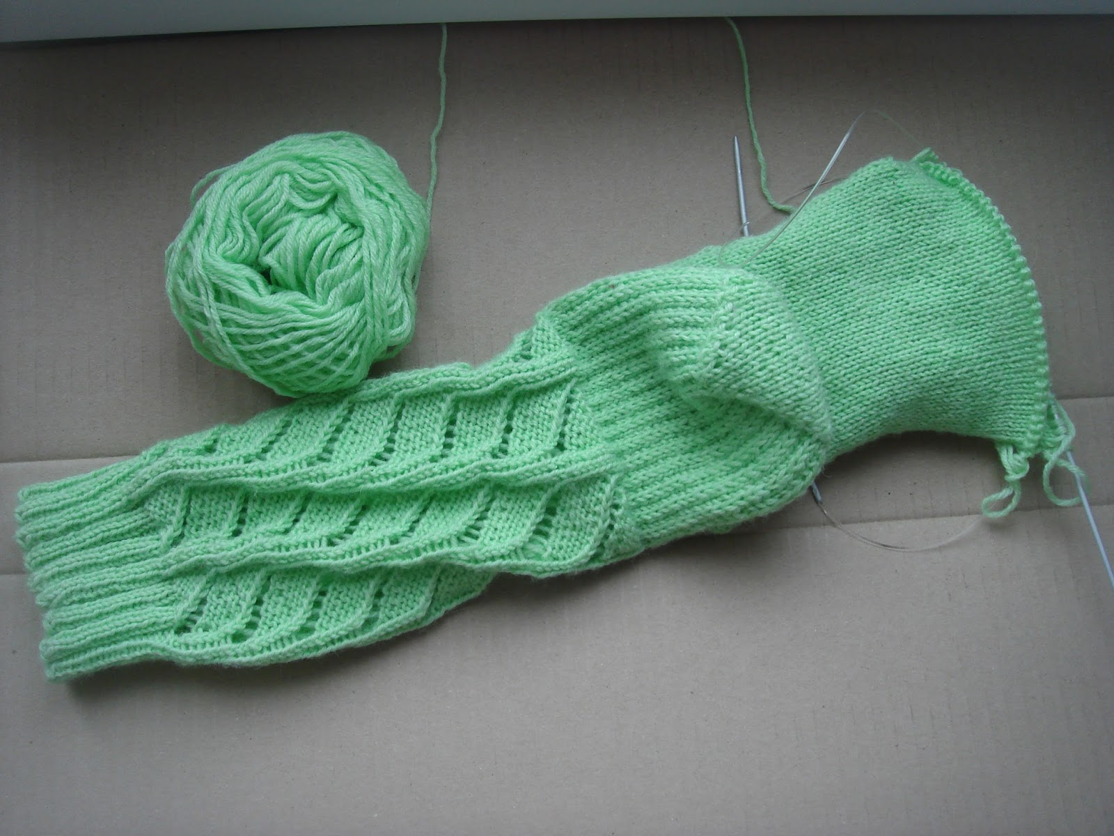 Вязание варежек от кончиков пальцев