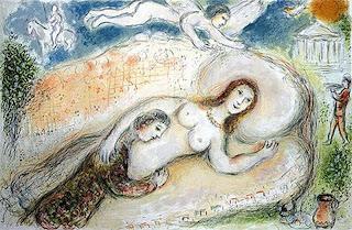 Ulises y Penélope en la cámara nupcial - Marc Chagall