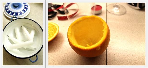 Witam w Nowym roku!- świecznik z pomarańczy