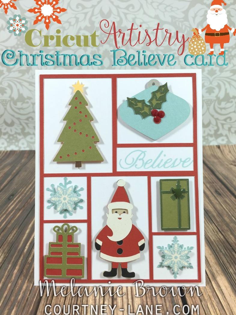 Courtney Lane Designs: Cricut Artistry Everything Christmas card