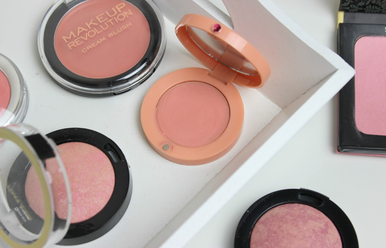 A picture of budget friendly blushes in spring shades