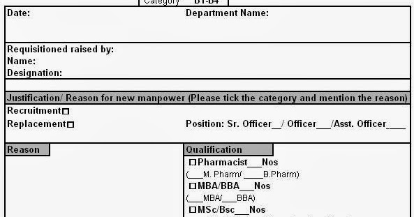 manpower requisition form format