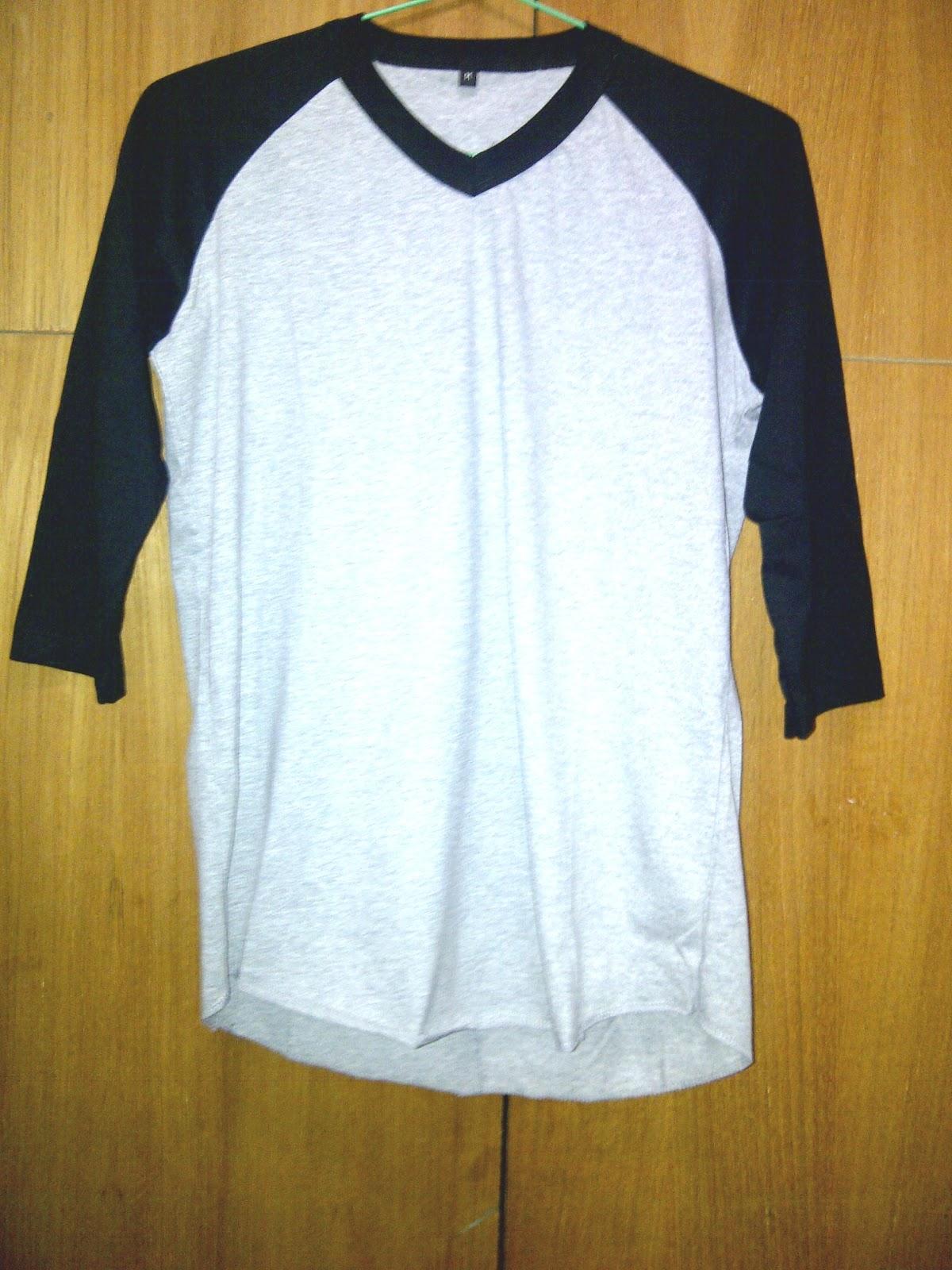 Model Kaos Polos Raglan Bahan Combed 20
