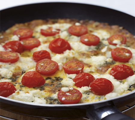 Herb and goat cheese frittata Recipes