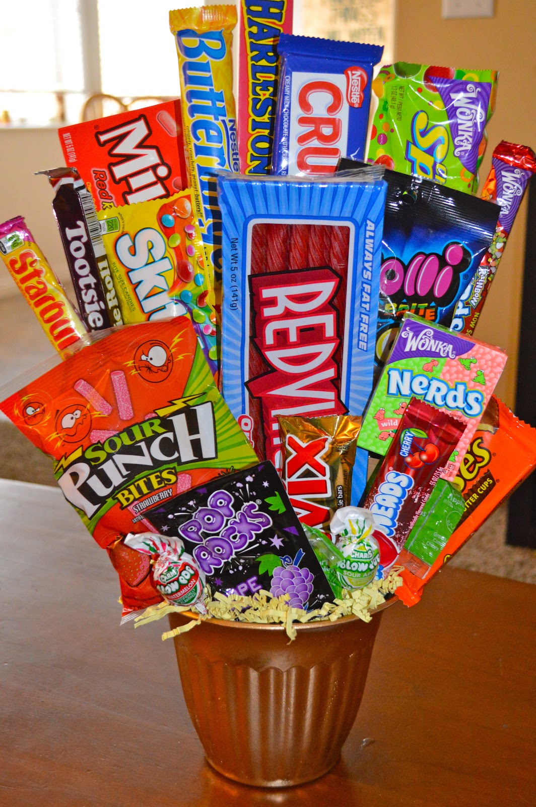 A dose of serendipity candy gift bucket for Edible christmas gift ideas to make