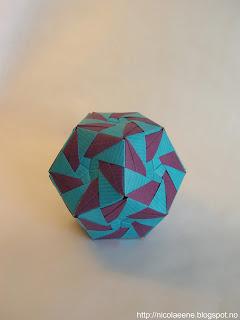 nicolae ene origami vortex dodecahedron by meenakshi. Black Bedroom Furniture Sets. Home Design Ideas
