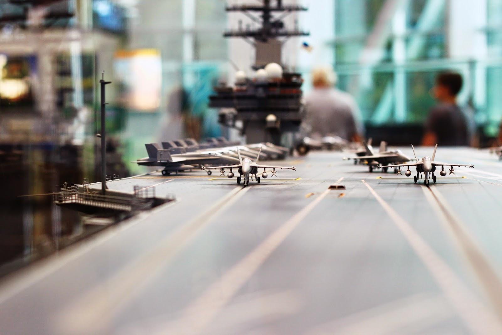 Pensacola NAS museum air craft carrier miniature