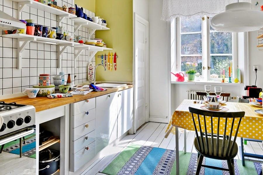 wnętrza, wystrój wnętrz, dom, kolory, radosne mieszkanie, styl skandynawski, białe wnętrza, kuchnia