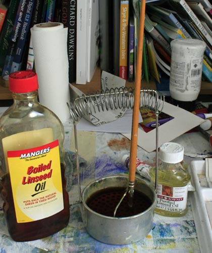 how to use linseed oil in painting