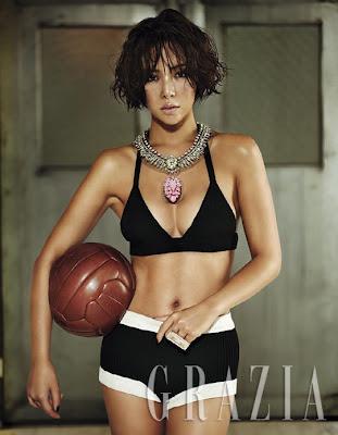 Hwang Jung Eum - Grazia Magazine July 2013