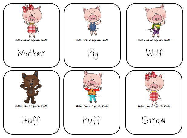 Three little pigs characters printable - photo#6