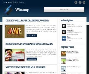 Winamp blogger template