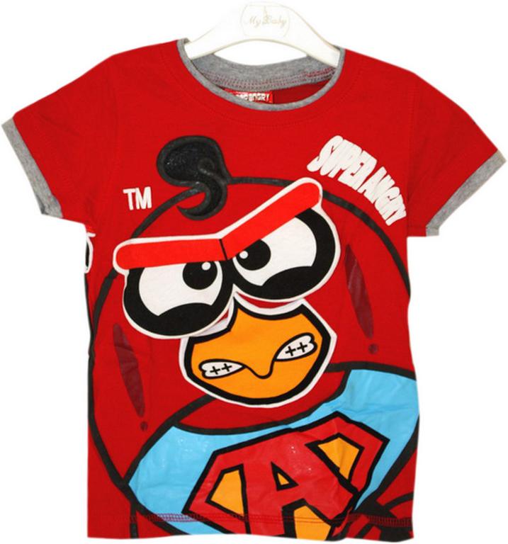 Model Baju Kaos Anak Karakter Angry Bird