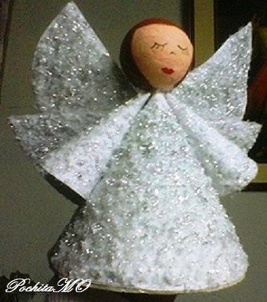 Mis manualidades y el medio ambiente angeles en la navidad - Angeles de navidad manualidades ...