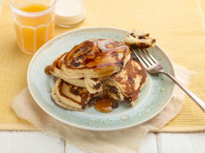 Place over low heat just until warm and the butter is melted Chocolate Chip Pancakes Recipe