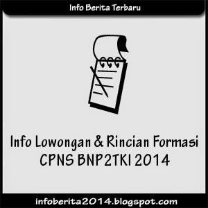 Info Lowongan dan Rincian Formasi CPNS BNP2TKI 2014