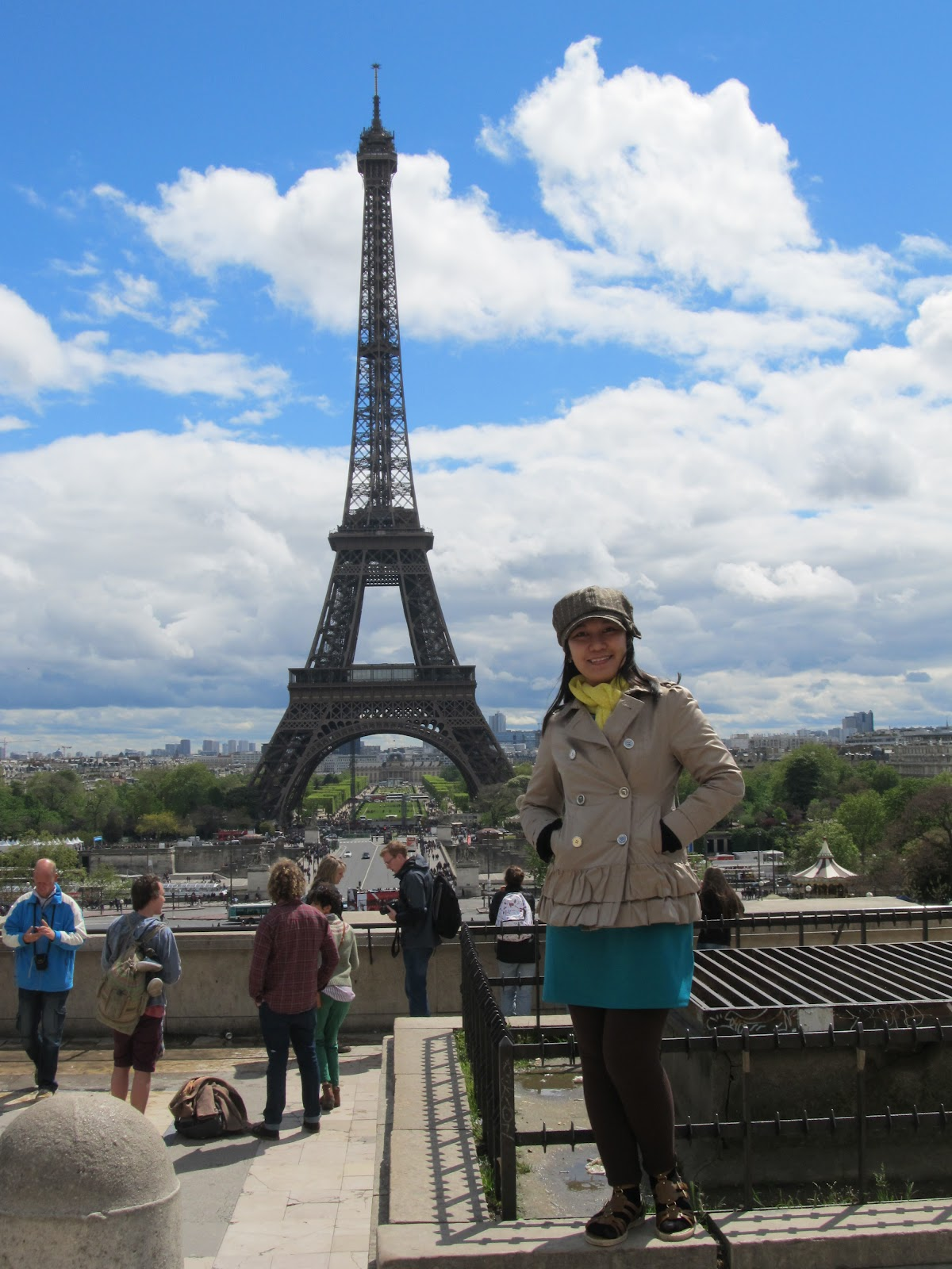 Paris France Eiffel Tower from Trocadéro