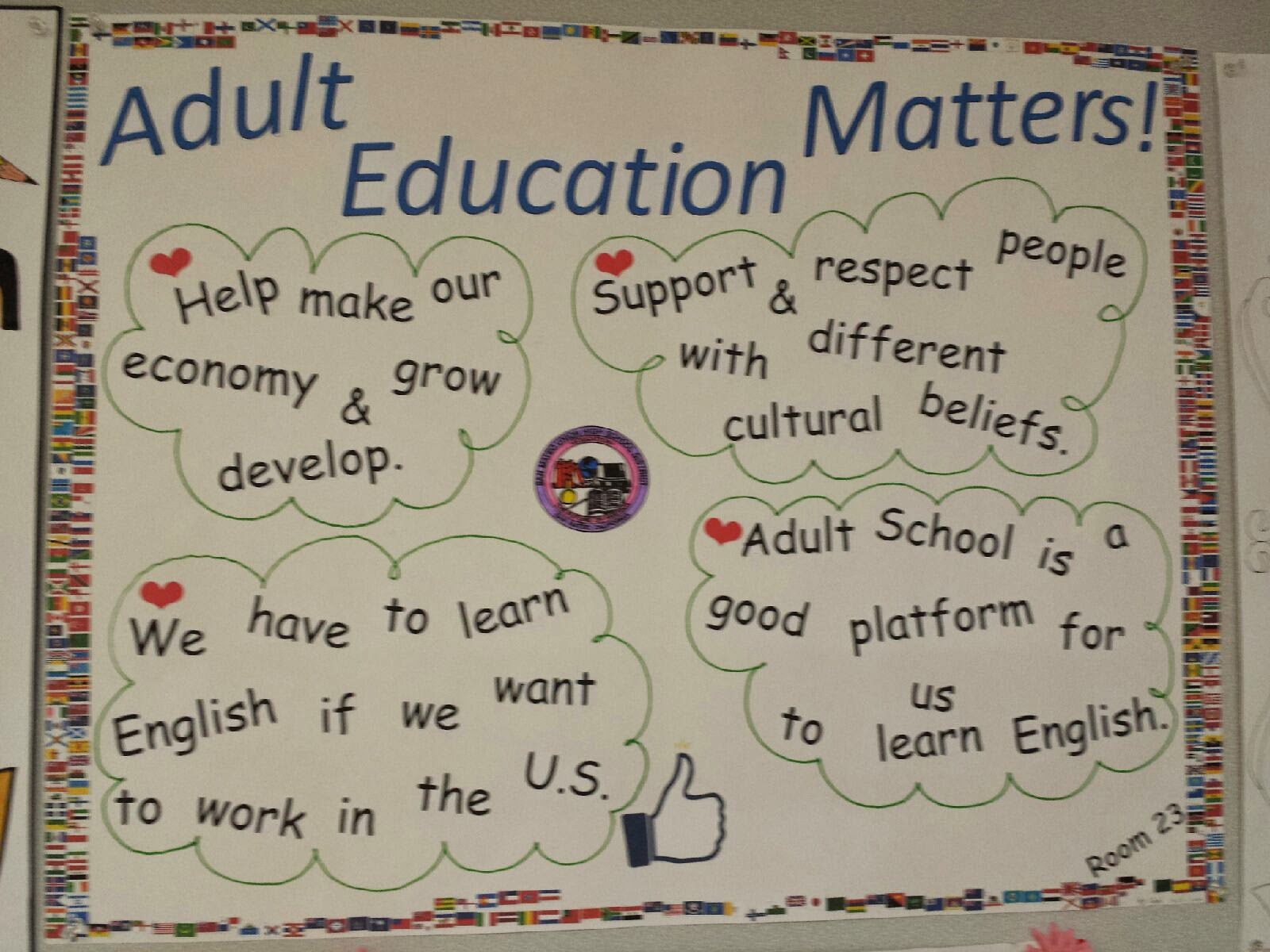 essay on importance of adult education the importance of learning  san mateo adult school adult education week poster contest room 23 teacher alesha s class