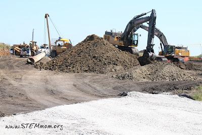 Grading the Land & Stringing Pipe: Oil Pipeline construction: STEMmom.org