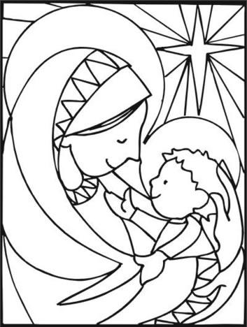 Dibujos cristianos de navidad para colorear dibujos - Dibujos de navidad en color ...