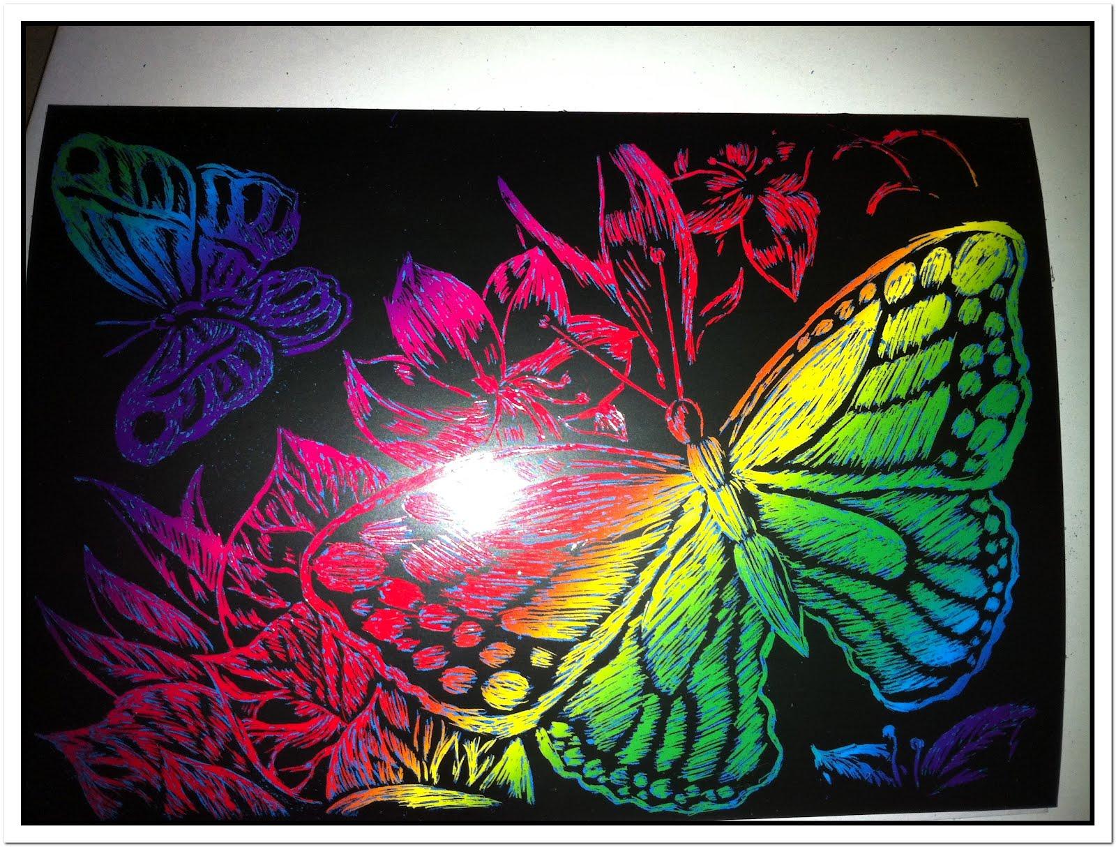 Flower scratch art