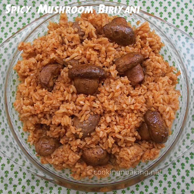 Spicy Mushroom Biriyani