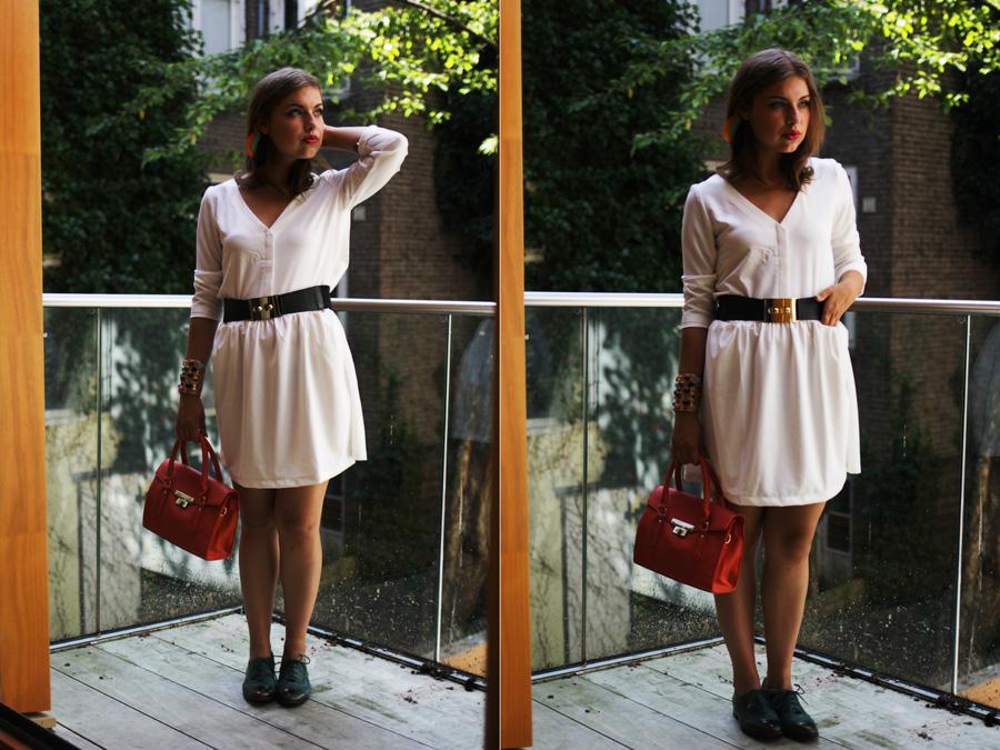 full look detail white dress tumblr fashion girls