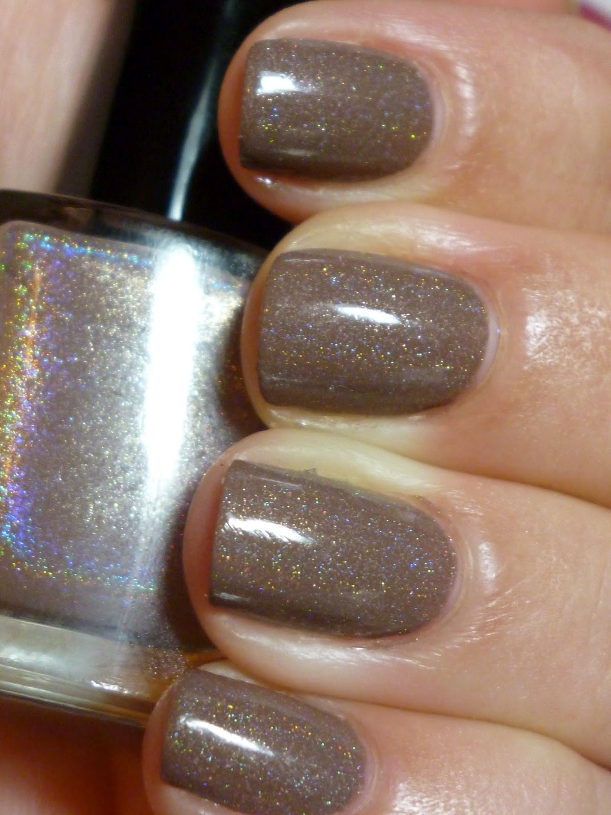 Nail Polish Anon: Glitter Gal 3D Holographic SUEDE