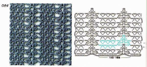 TRICO y CROCHET-madona-mía: Esquemas de puntos para tejer bufandas a ...