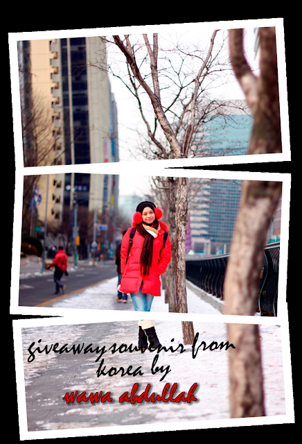 Giveaway Souvenir from Korea by Wawa Abdullah