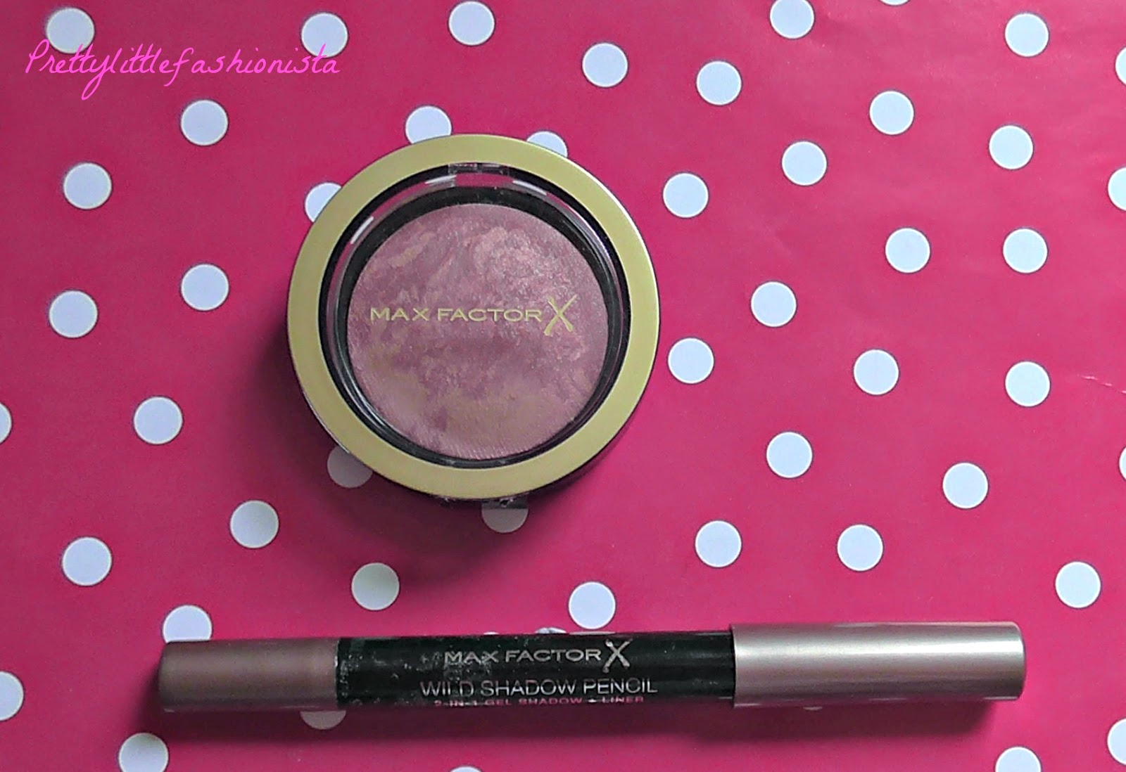 Max Factor Crème Puff Blush in Seductive Pink and Wild Eyeshadow Pencil in Caramel Rage