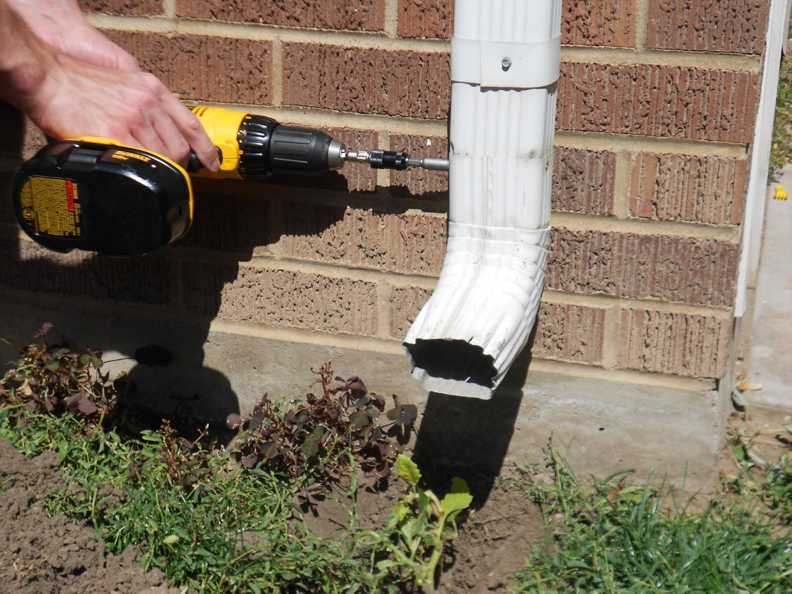 How To Bury A Gutter Downspout Twofeetfirst