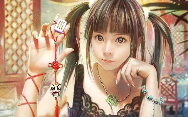 Cute Gorgeous Female Free CG Beautiful Girl HD Quality Wallpaper 1920x1200 pixel
