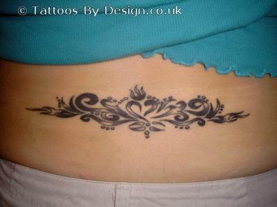 Latin letters tattoos tattoo designs for men angel skull for Full lower back tattoos