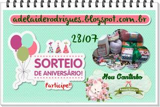 banner do sorteio de aniversario do blog da nossa amiga Adelaide Rodrigues